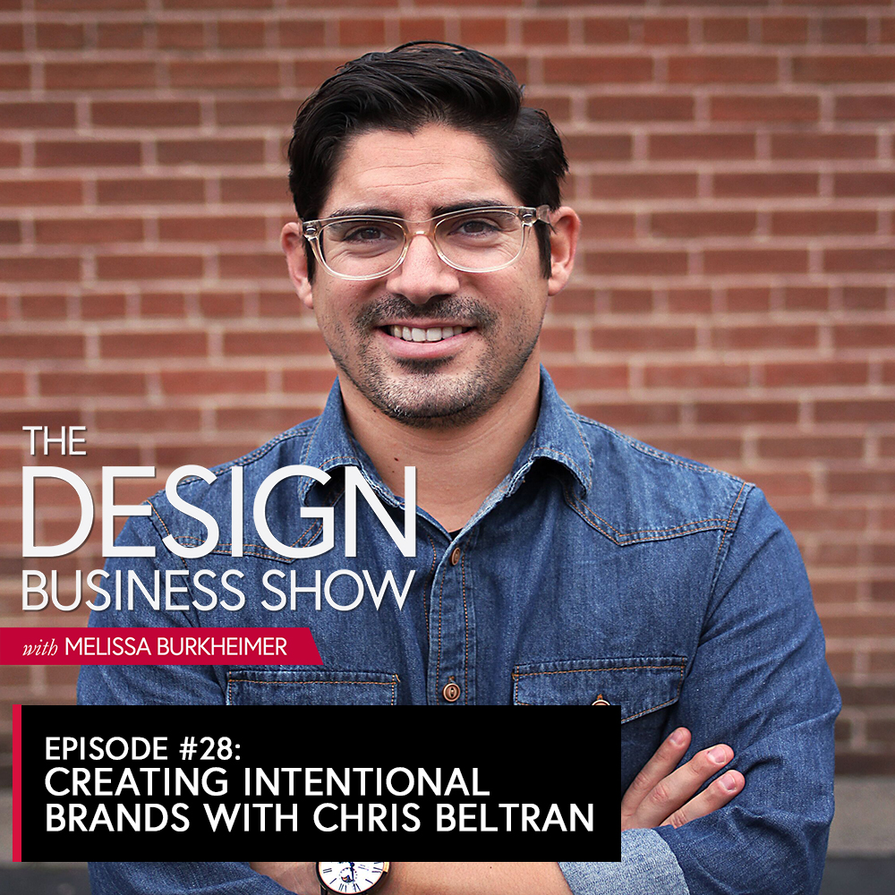 Join me for episode 28 of The Design Business Show where I speak with Chris Beltran about creating intentional brands, boundaries, and how investing in himself has helped him grow his business.