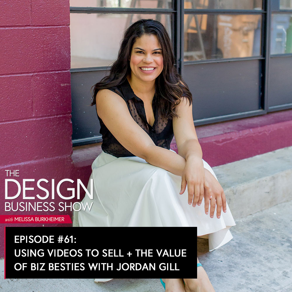 Check out episode 61 of The Design Business Show with Jordan Gill, Head Hancho of Systems Saved Me, to get tips on selling, offering design intensives, and the value of biz besties.