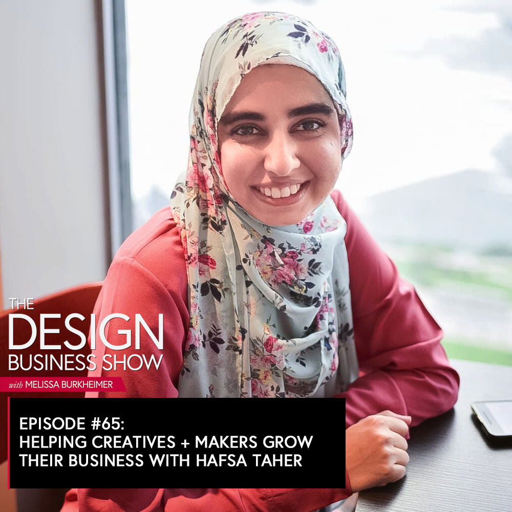 Check out episode 65 of The Design Business Show with Hafsa Taher, to get tips on Instagram marketing, community building, and tips for selling handmade items online.