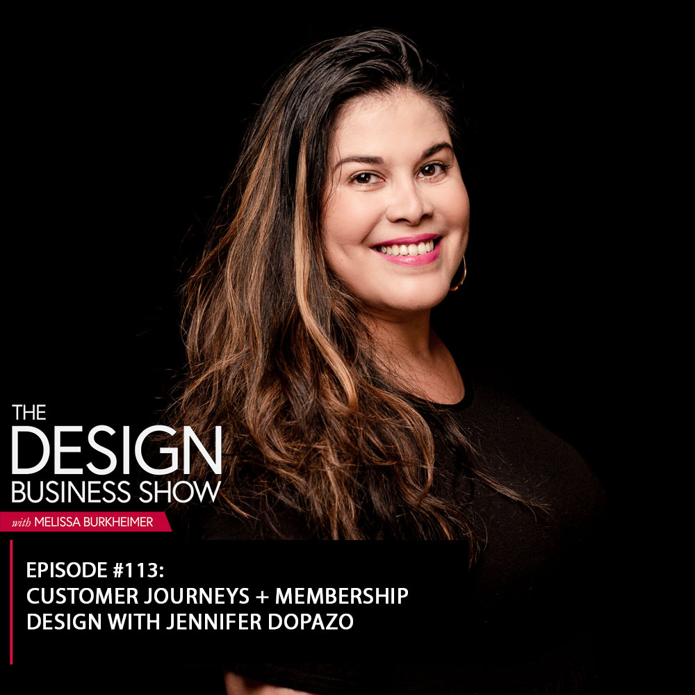 Check out episode 113 of The Design Business Show with Jennifer Dopazo to learn about her membership design process!